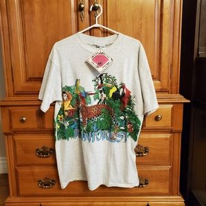 NWT Vintage 1992 Rainforest Tee Sz L 44 Chest
